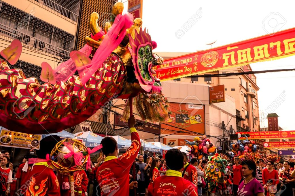 bangkok dragon parade