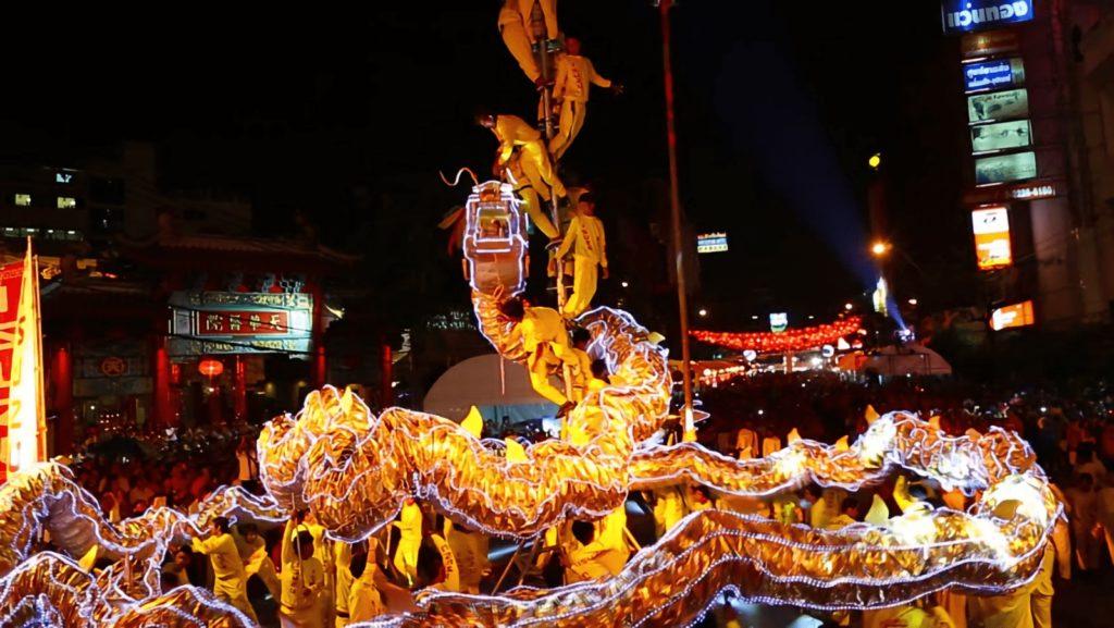 bangkok dragon parade nuit