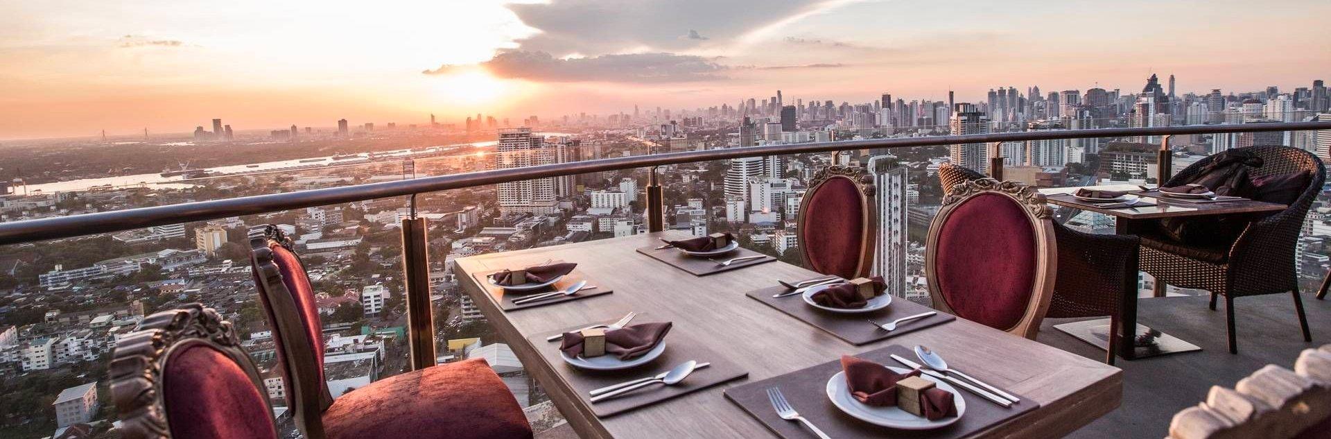 rooftop restaurant cielo à bangkok