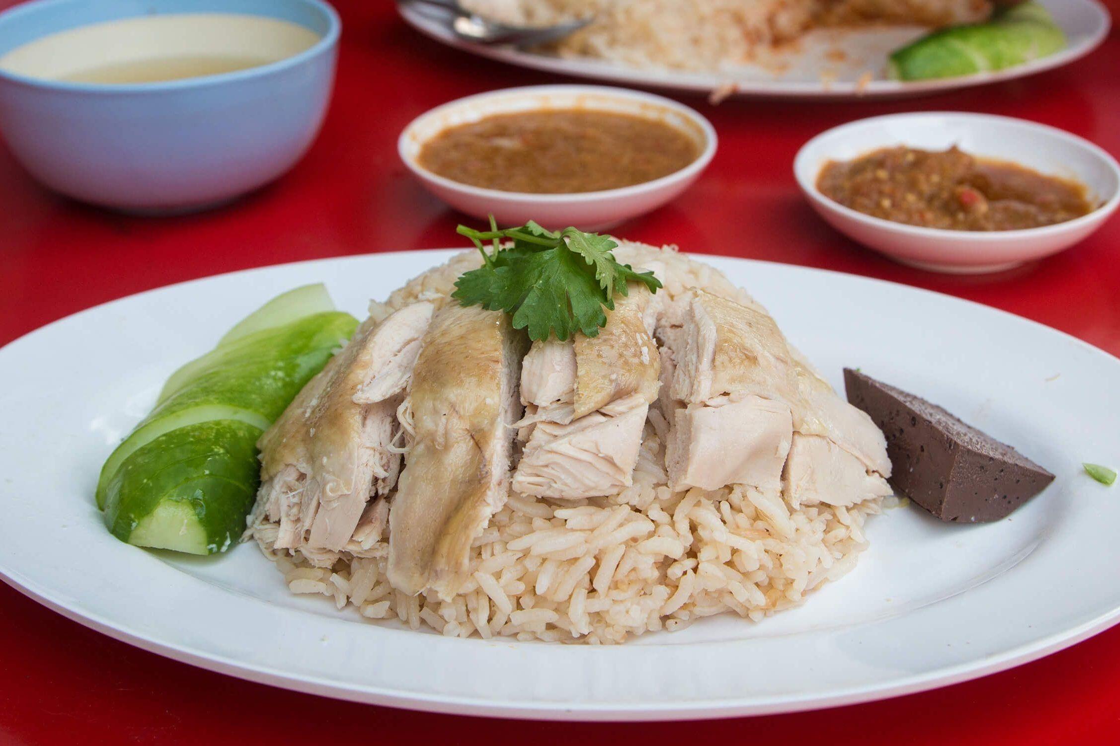 khao man gai poulet et riz à la vapeur