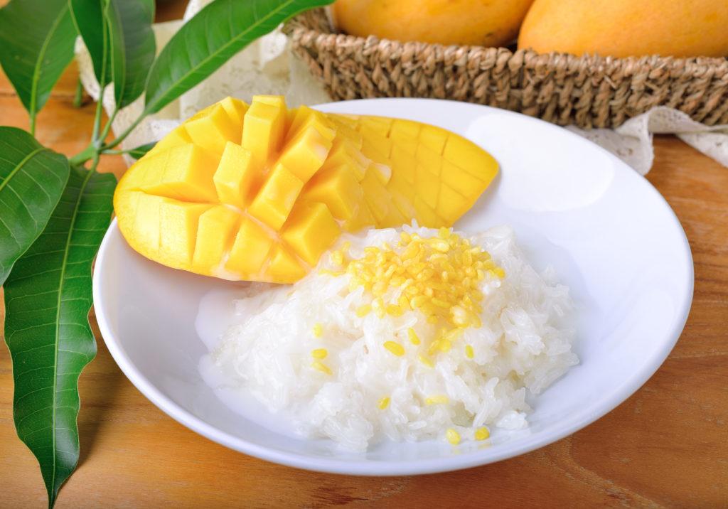 Khao Niew Ma Muang : Riz gluant à la mangue