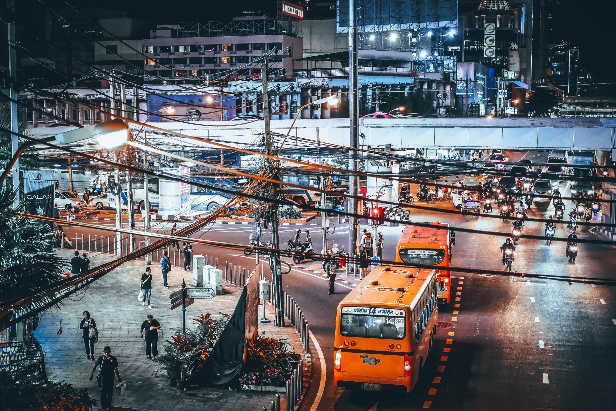 route bangkok de nuit